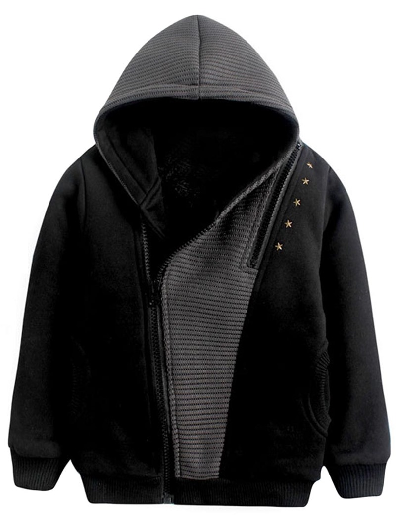 Ericdress Color Block Asymmetric Zipper Cardigan Sweater