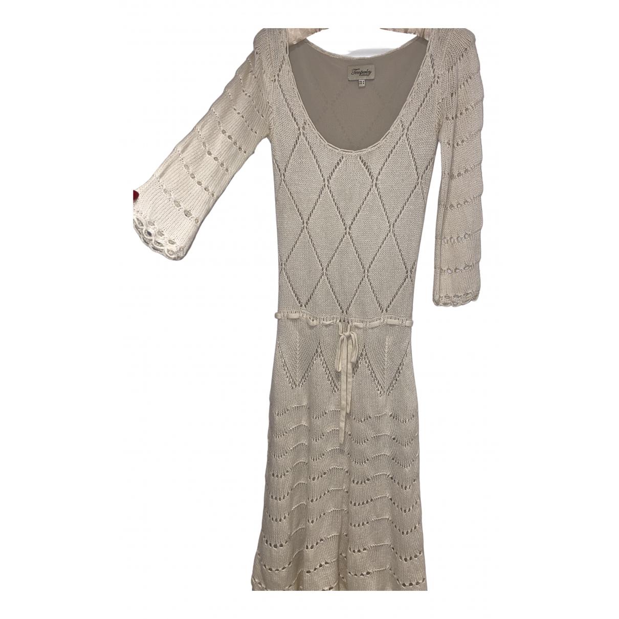 Temperley London \N Kleid in  Weiss Wolle