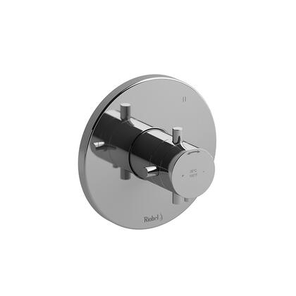 Riu TRUTM47PN 3-Way No Share Thermostatic/Pressure Balance Coaxial Valve Trim  in Polished