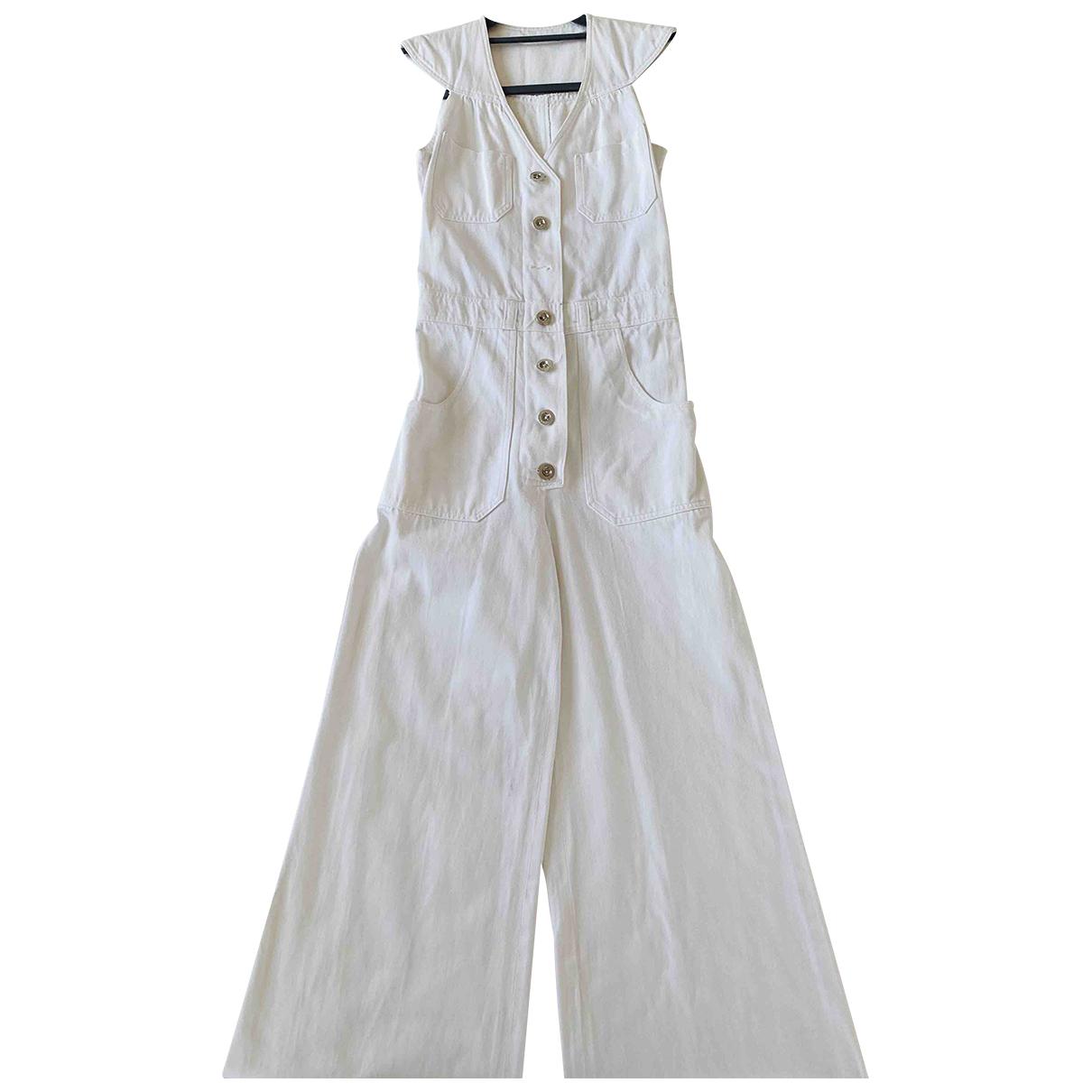 - Combinaison Hippie Chic pour femme en coton - blanc