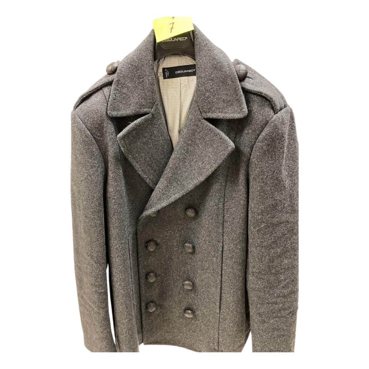 Dsquared2 N Grey Wool coat  for Men 54 IT