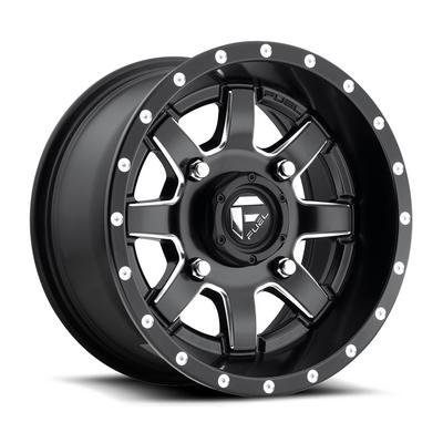 MHT Fuel Offroad Maverick D538, 18x7 Wheel with 4 on 156 Bolt Pattern - Black Milled - D5381870A544