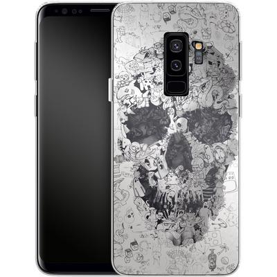 Samsung Galaxy S9 Plus Silikon Handyhuelle - Doodle Skull von Ali Gulec