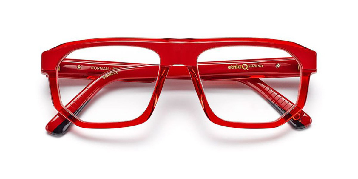 Etnia Barcelona Norman RD Men's Glasses Red Size 55 - Free Lenses - HSA/FSA Insurance - Blue Light Block Available
