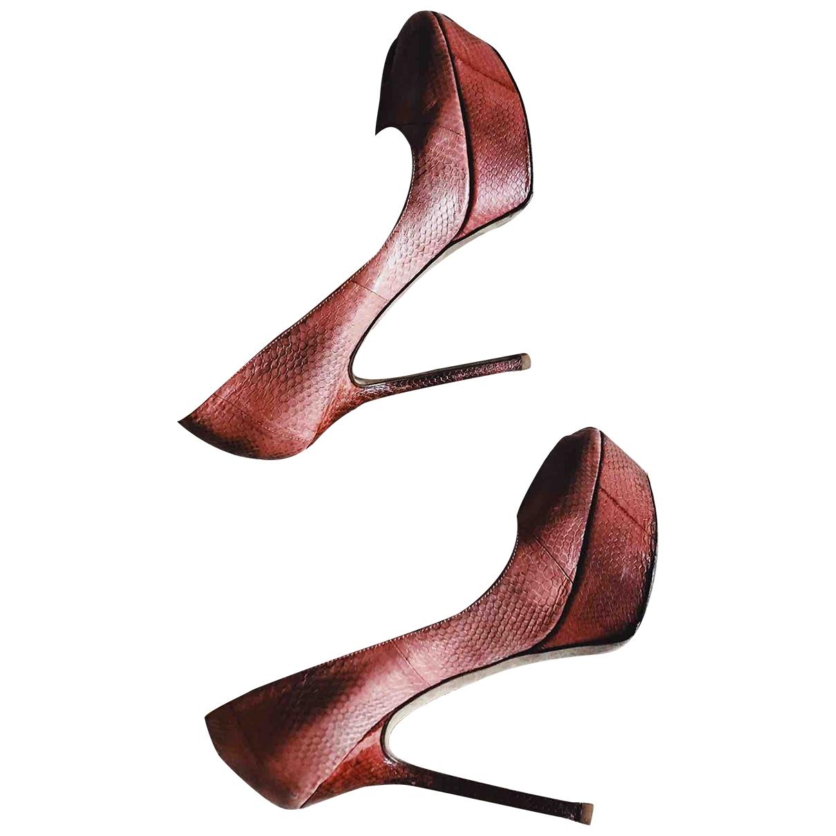 Sergio Rossi - Sandales   pour femme en cuir - rose