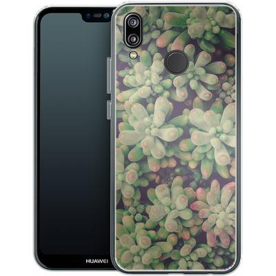 Huawei P20 Lite Silikon Handyhuelle - Kingwood Soft Cactus von Joy StClaire