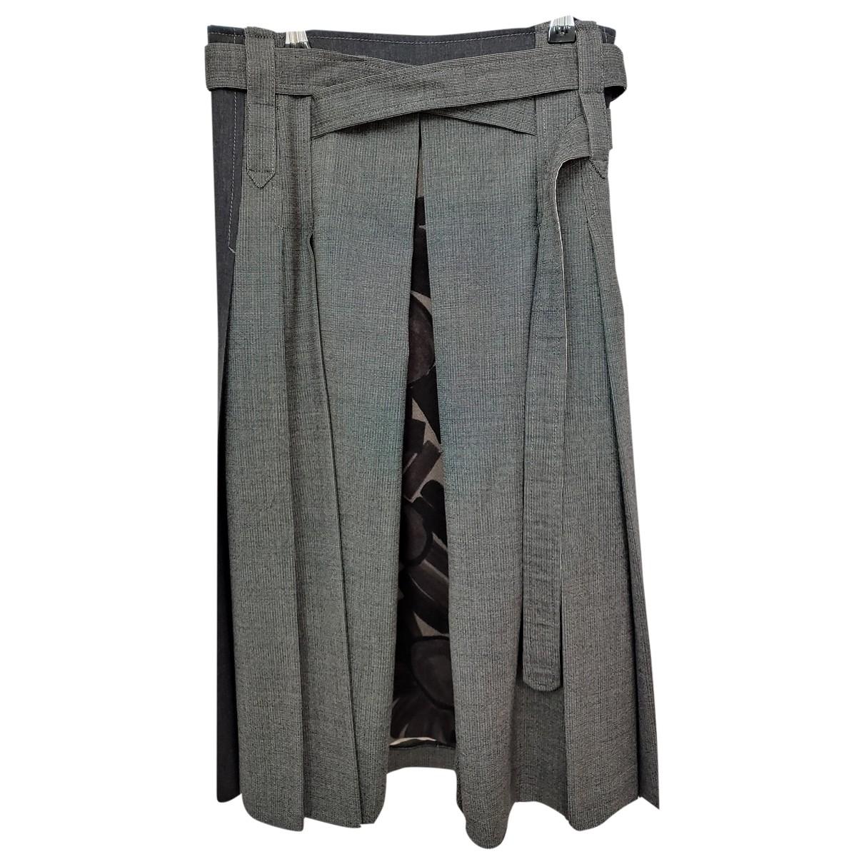 Kenzo \N Grey Wool skirt for Women 36 FR