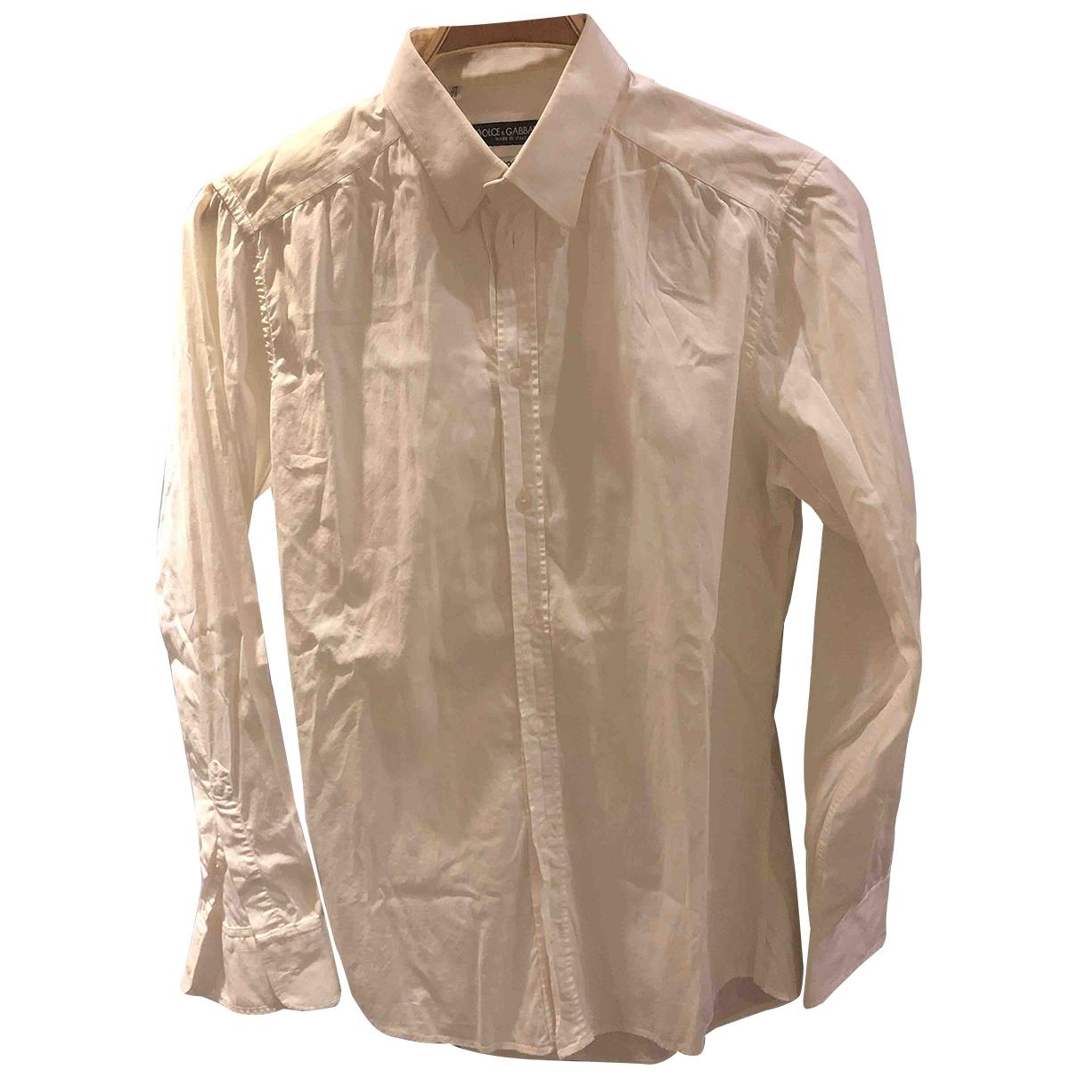Dolce & Gabbana \N White Cotton Shirts for Men S International