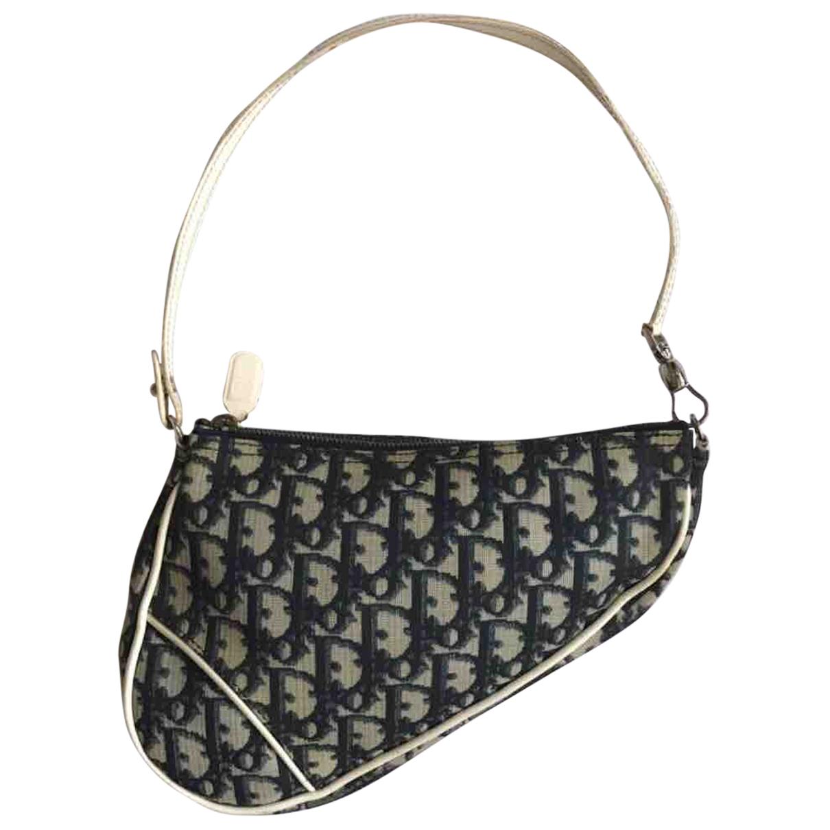 Dior Saddle Handtasche in  Marine Leinen