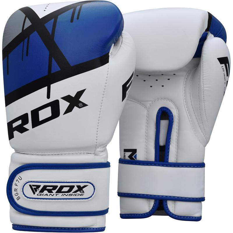 RDX F7 Trainings Boxhandschuhe 8oz Blau/Weiss/Schwarz