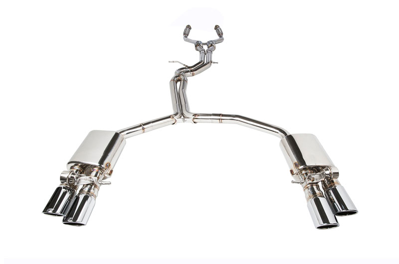 IPE Stainless Steel Valvetronic Exhaust System with OBD2 with Light Sensor and Polished Tips Audi S7 13-17