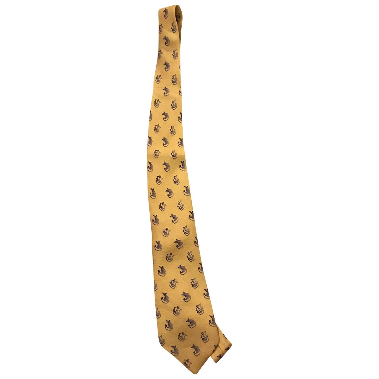 Loewe - Cravates   pour homme en soie - jaune