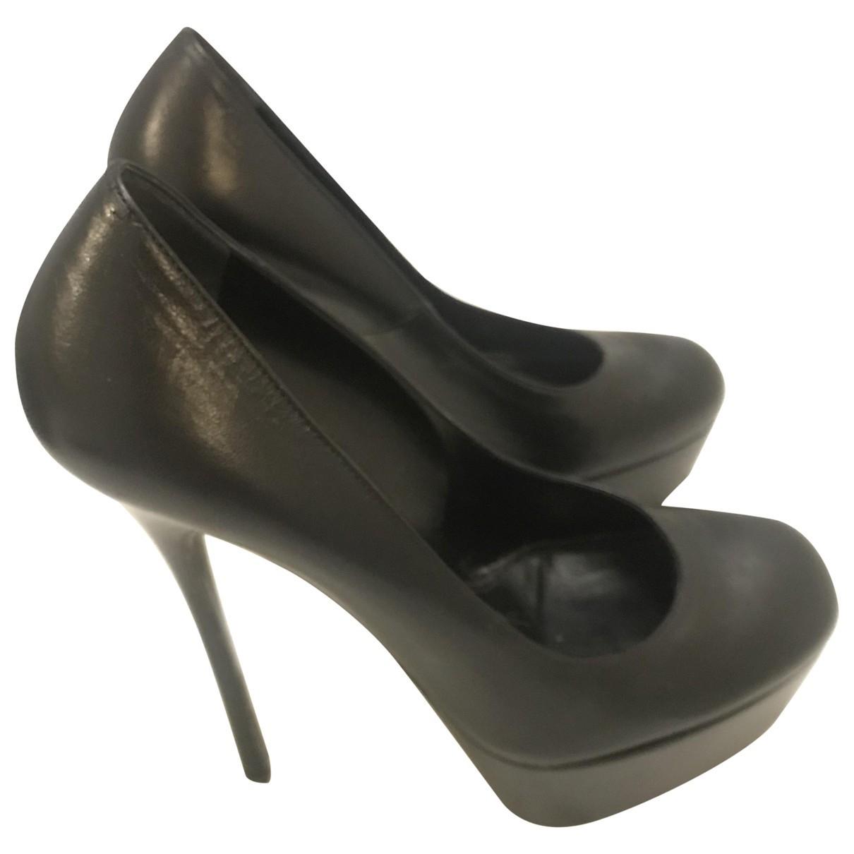 Alexander Mcqueen \N Black Leather Heels for Women 36 EU