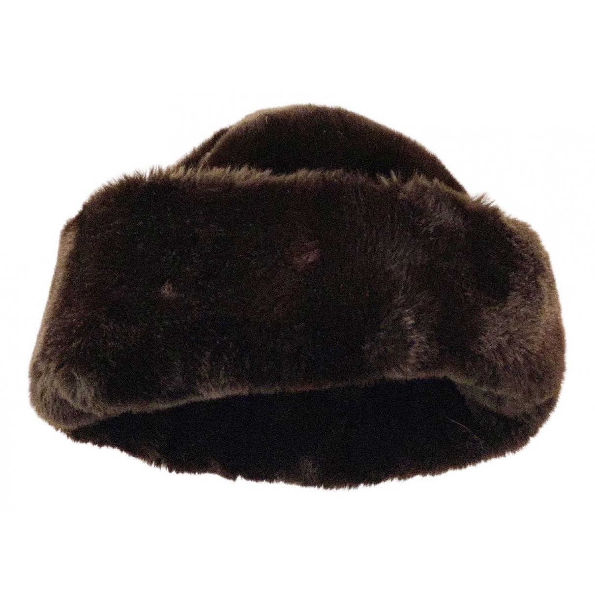Non Signé / Unsigned N Brown Faux fur hat for Women L International