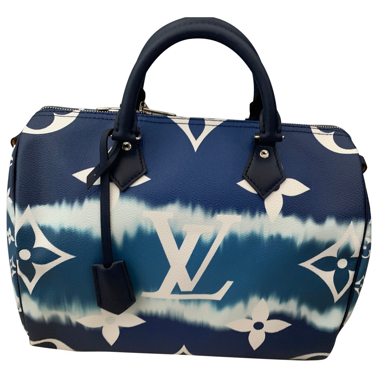 Louis Vuitton - Sac a main Speedy Bandouliere pour femme en toile - bleu