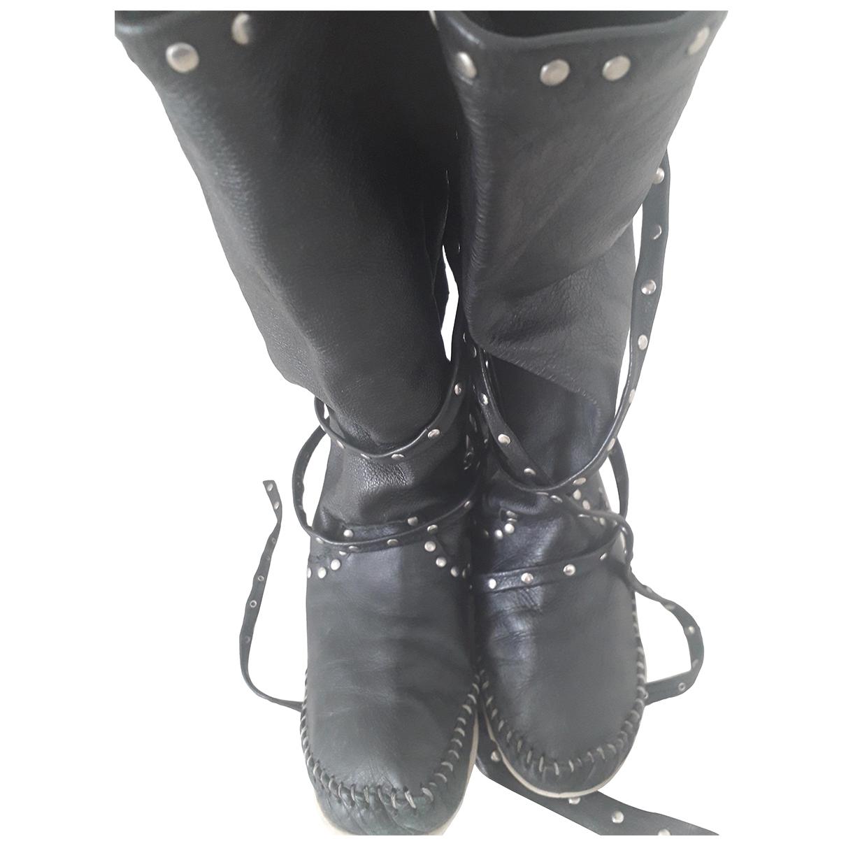 Hektor \N Stiefel in  Schwarz Leder
