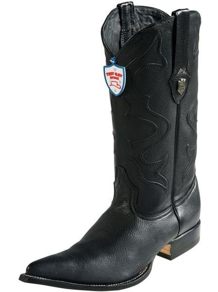 Mens Black Wild Leather 3x Toe Handmade Boots Replaceable Heel Cap