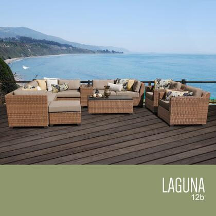 LAGUNA-12b Laguna 12 Piece Outdoor Wicker Patio Furniture Set 12b with 1 Cover in