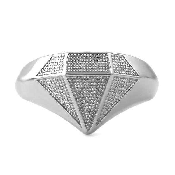 Diamond Shaped .925 Sterling Silver Custom Ring