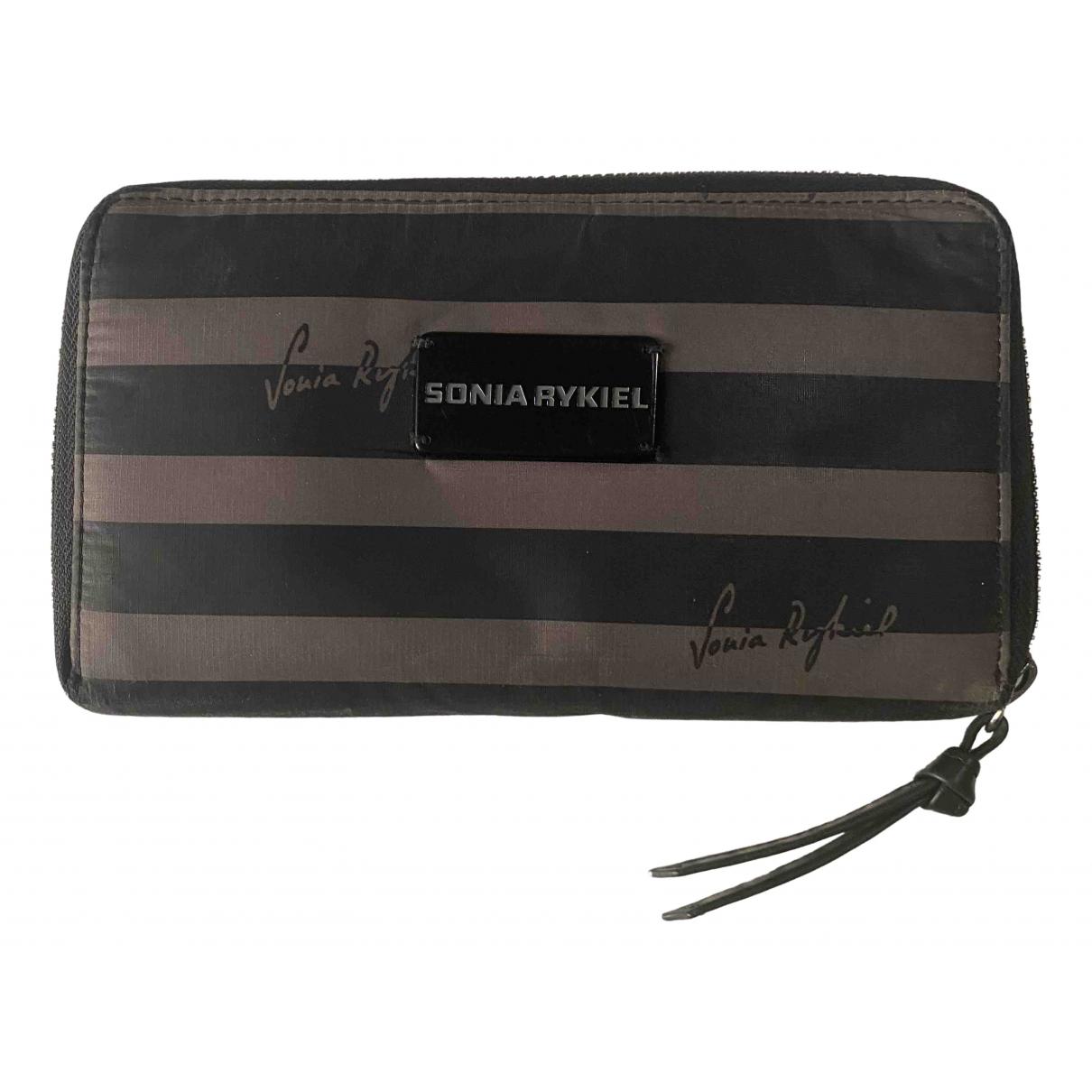 Sonia Rykiel - Portefeuille   pour femme en toile - noir
