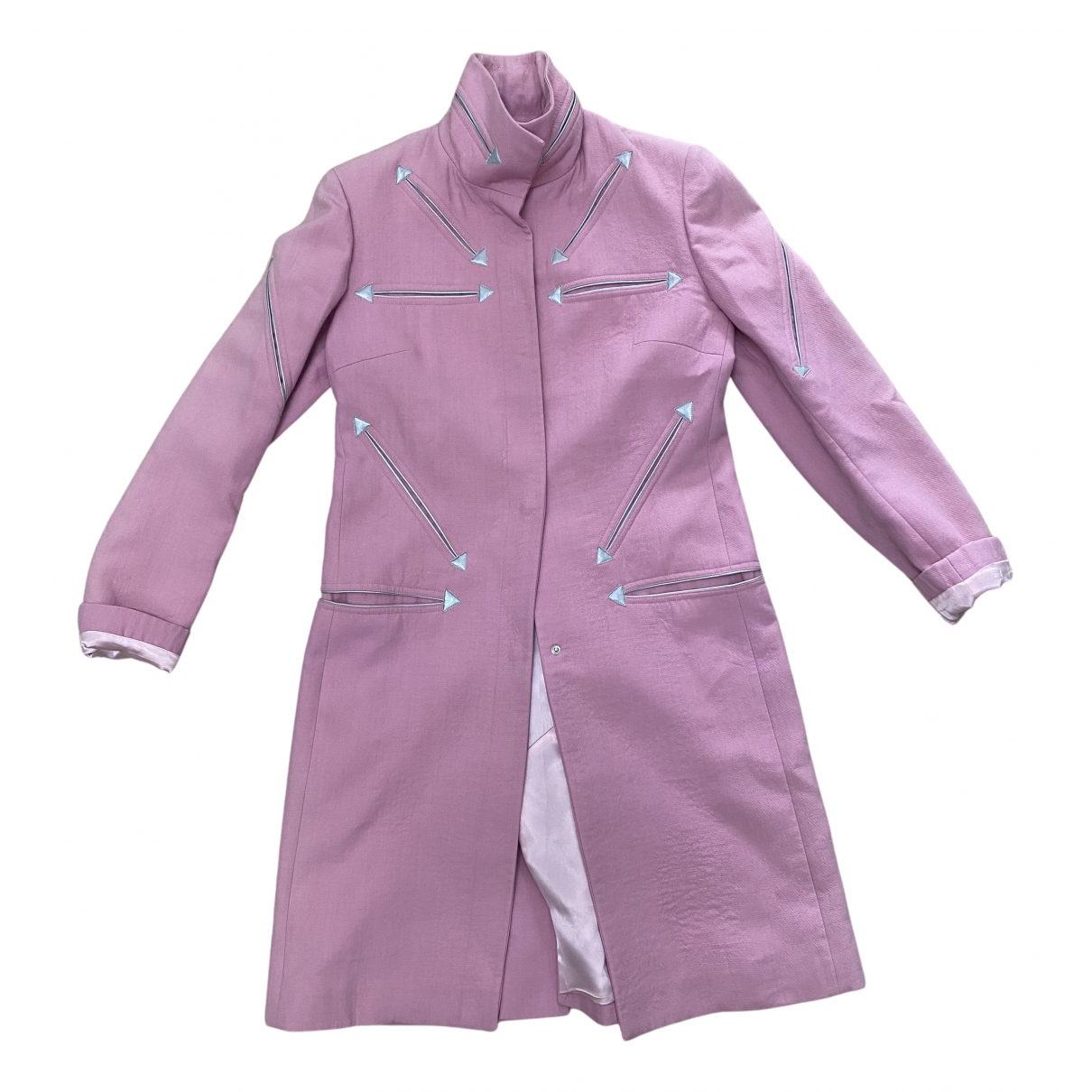 Jc De Castelbajac N Pink Wool coat for Women 42 IT