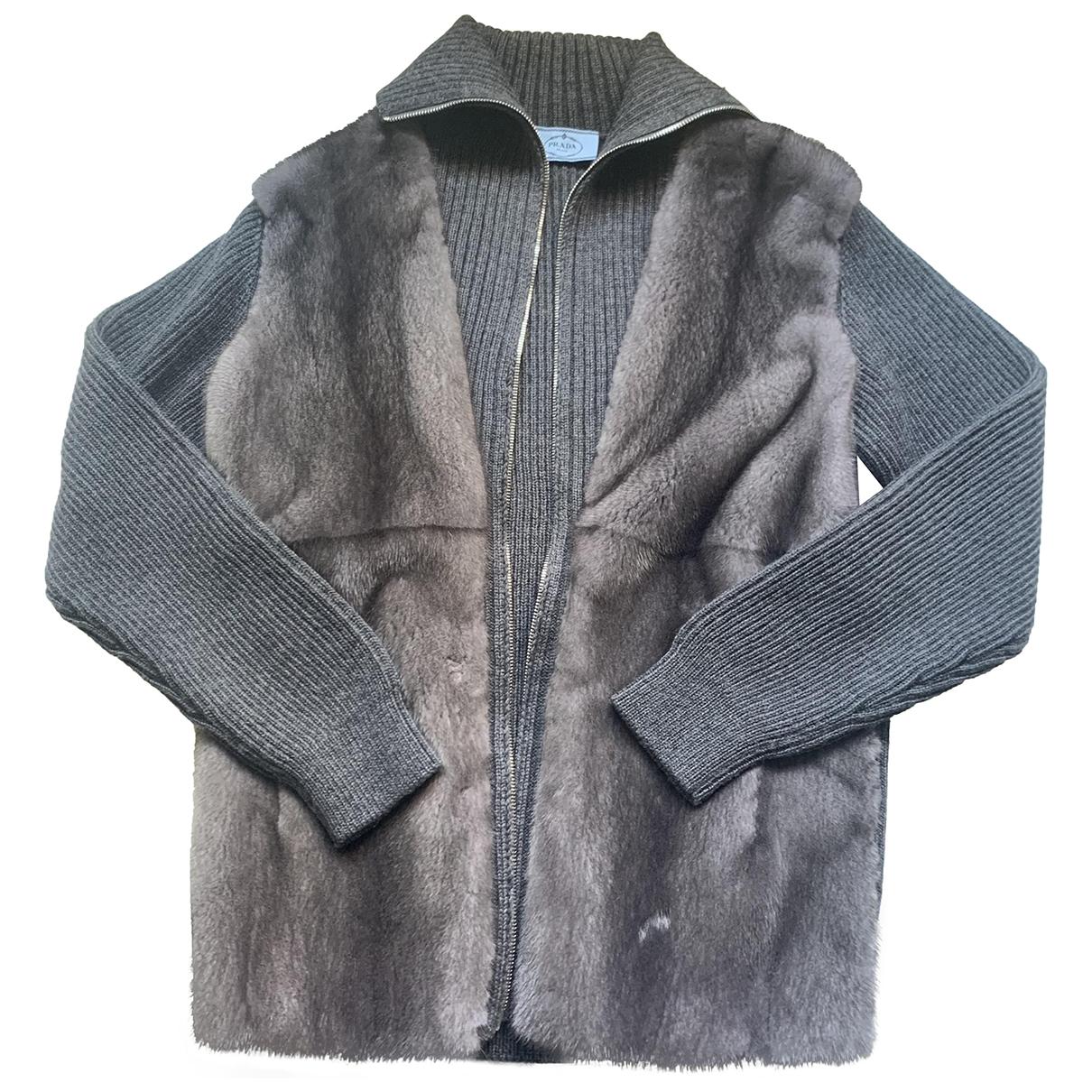 Prada - Pull   pour femme en vison - gris