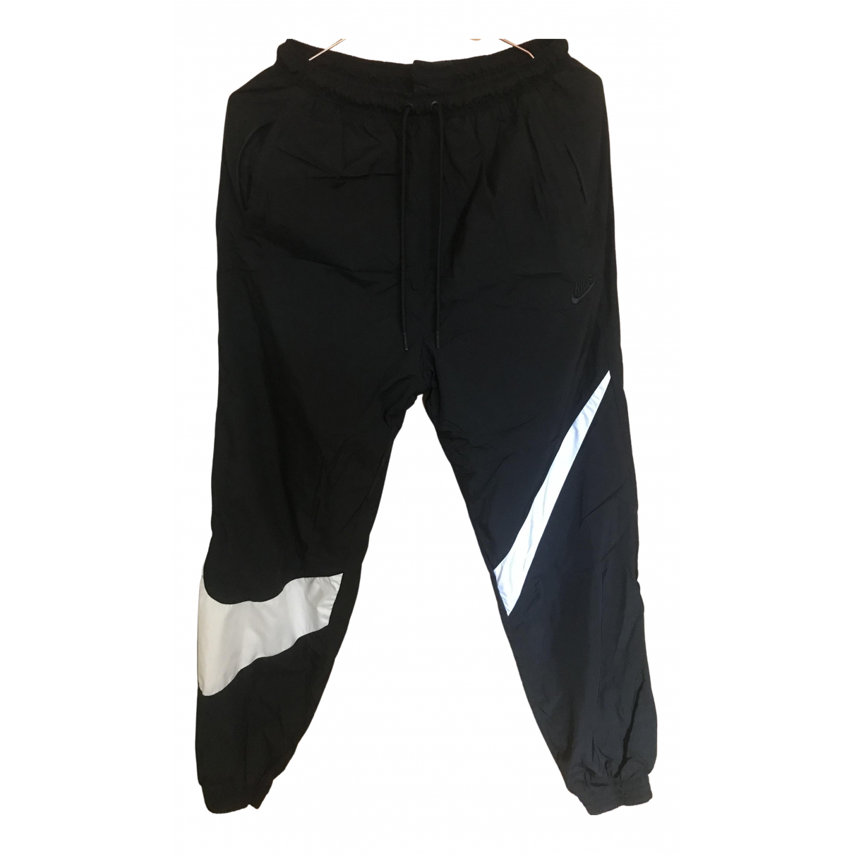 Nike N Black Trousers for Men M International
