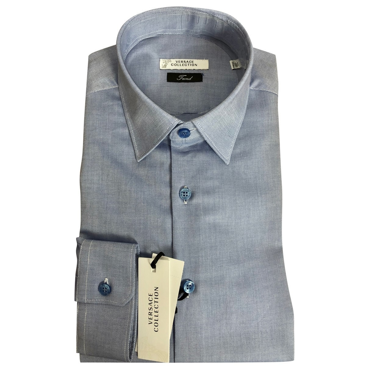 Versace - Chemises   pour homme en coton - bleu