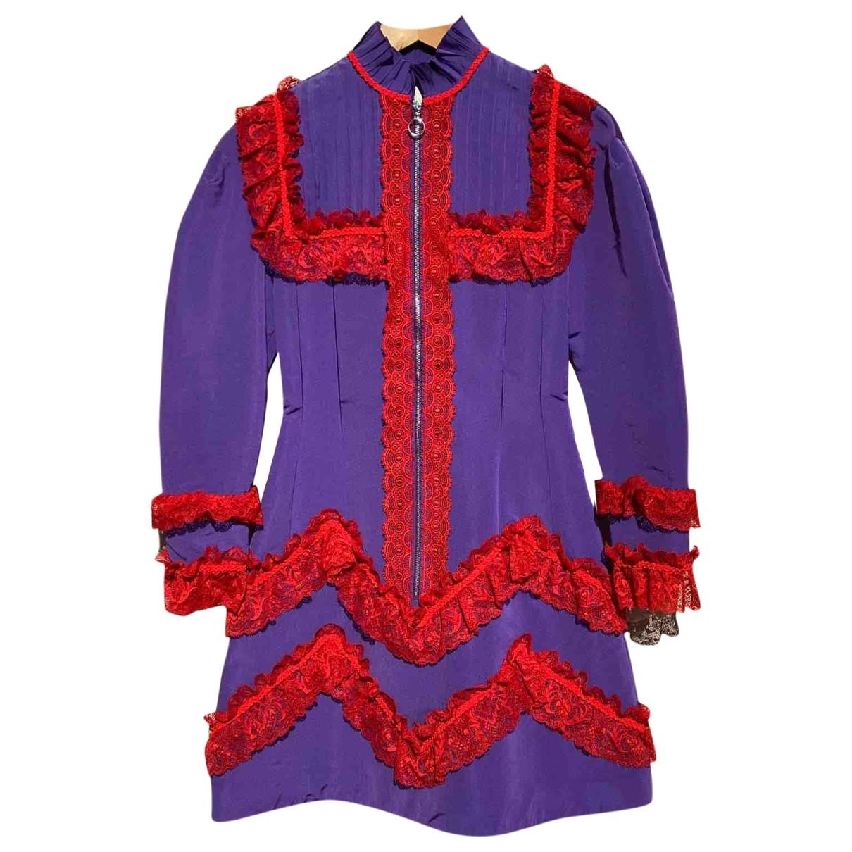 Gucci - Robe   pour femme en soie - violet
