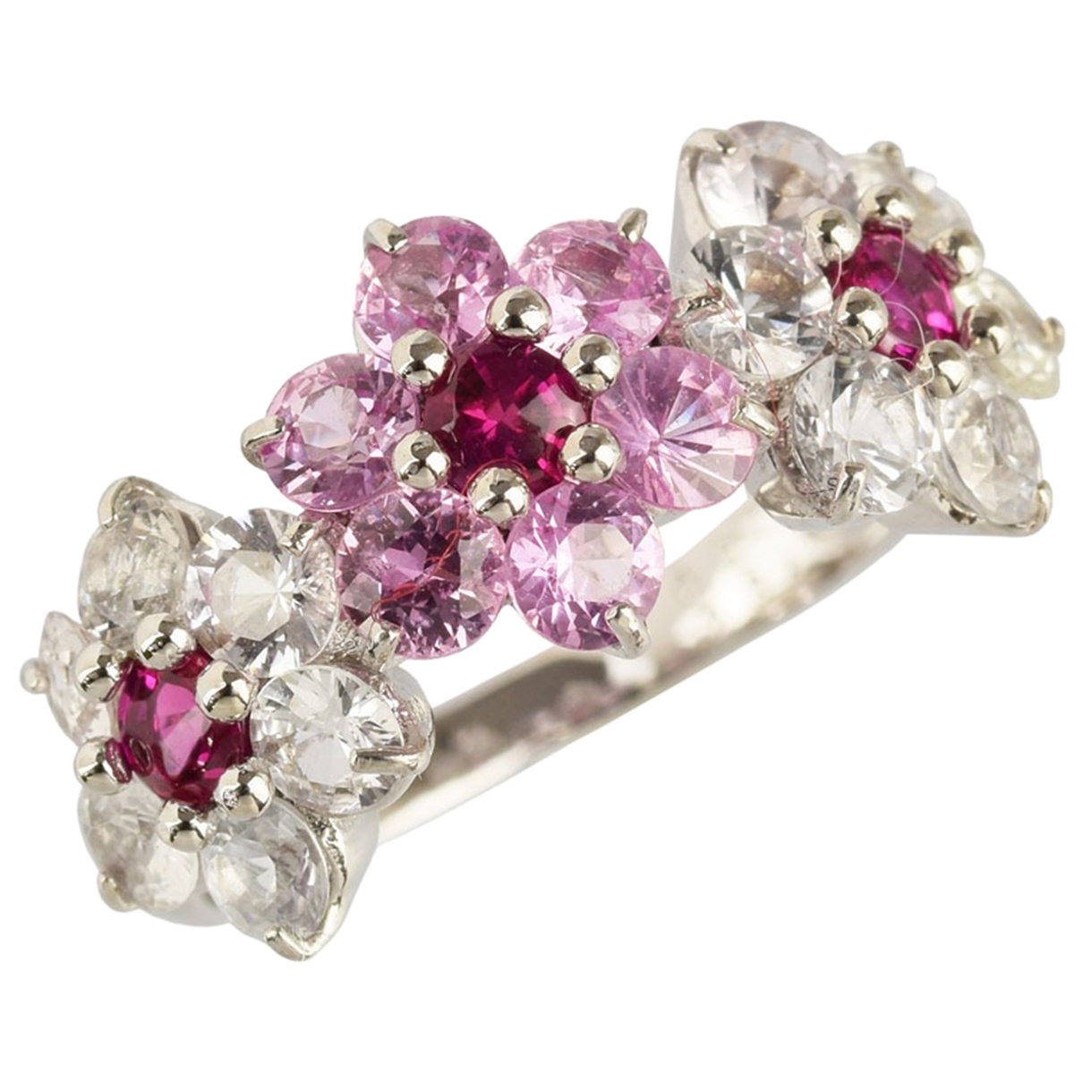 Non Signe / Unsigned \N Ring in  Rosa Weissgold