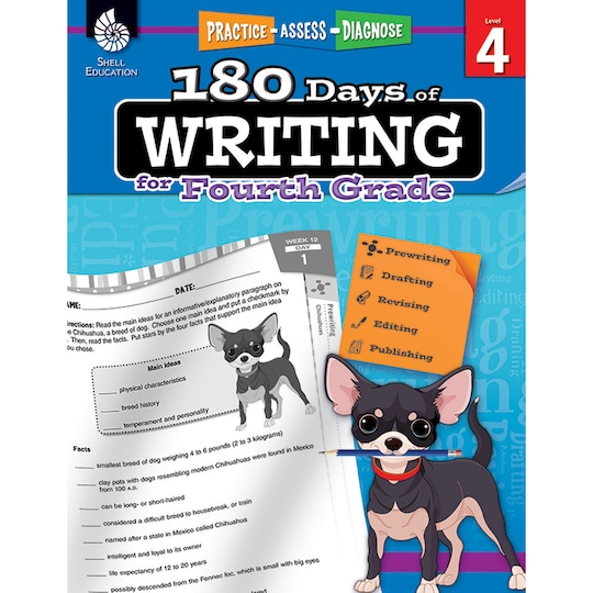180 Days Of Writing Activity Book, Grade 4 By Shell Education | Michaels®