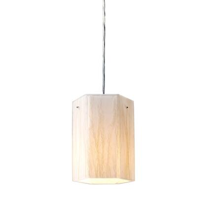 19031/1 Modern Organics-1-Light Pendant in White Sawgrass Material in Polished