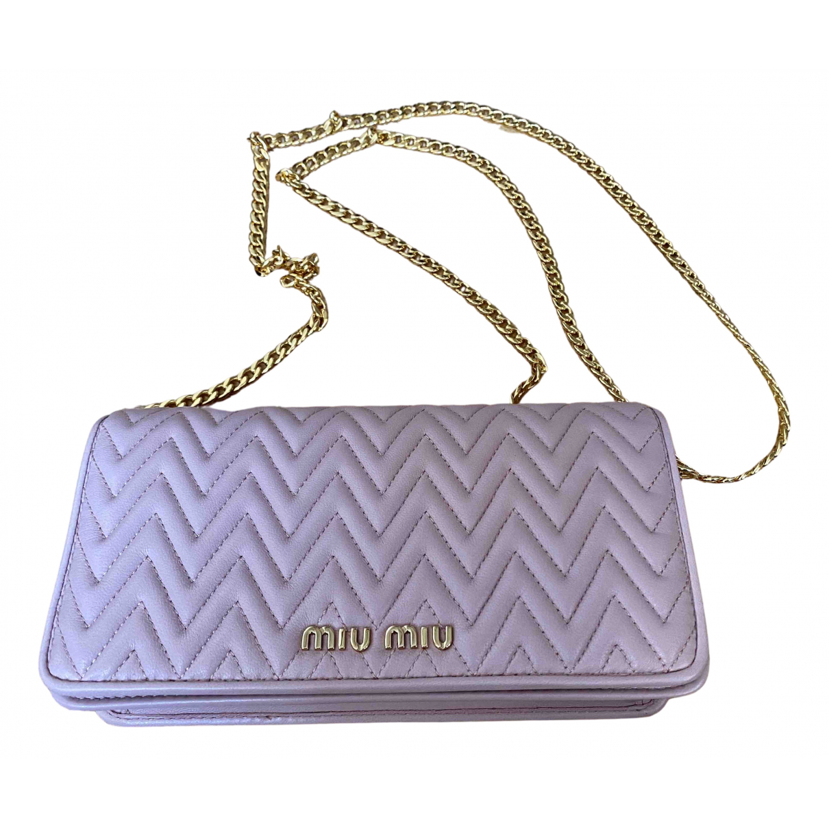 Miu Miu Miu delice Pink Leather handbag for Women N