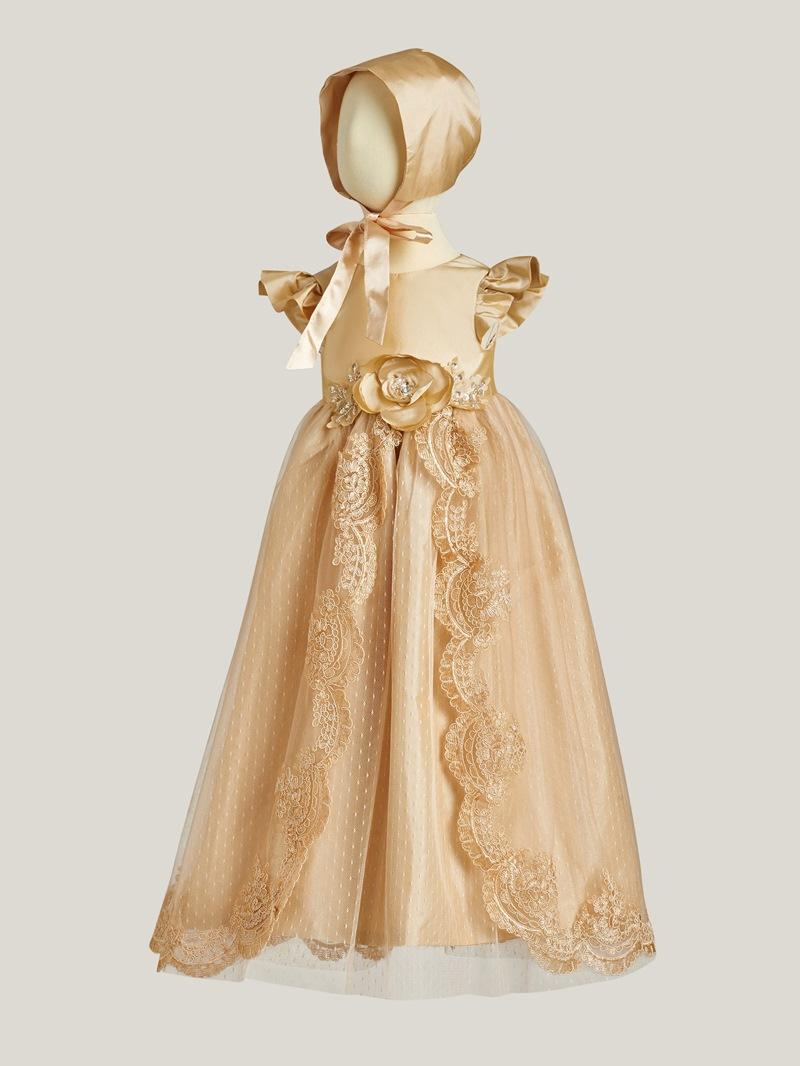 Ericdress Lace Baby Girl Baptism Christening Dress