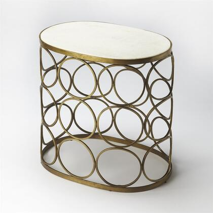 Talulah Collection 6123025 Accent Table with Modern Style  Oval Shape and Iron Metal Material in Metalworks