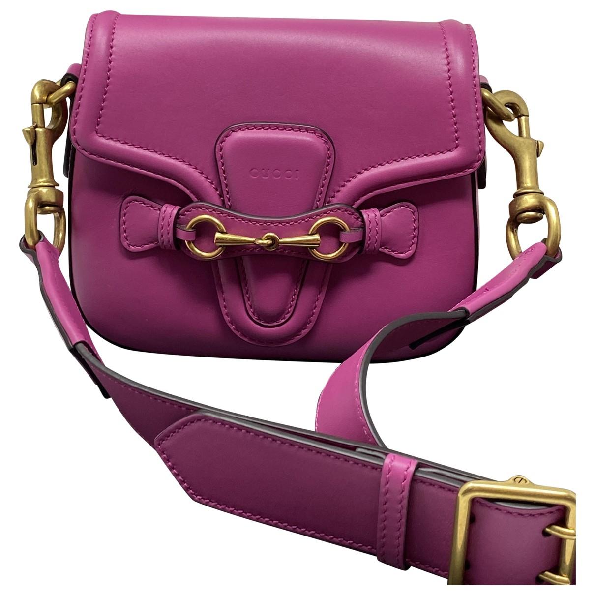 Gucci - Sac a main Lady Web pour femme en cuir - rose