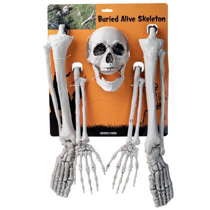 Halloween Squelette de Pelouse Révolutionnaire Vivant Enterré Grandeur Nature 5Pcs