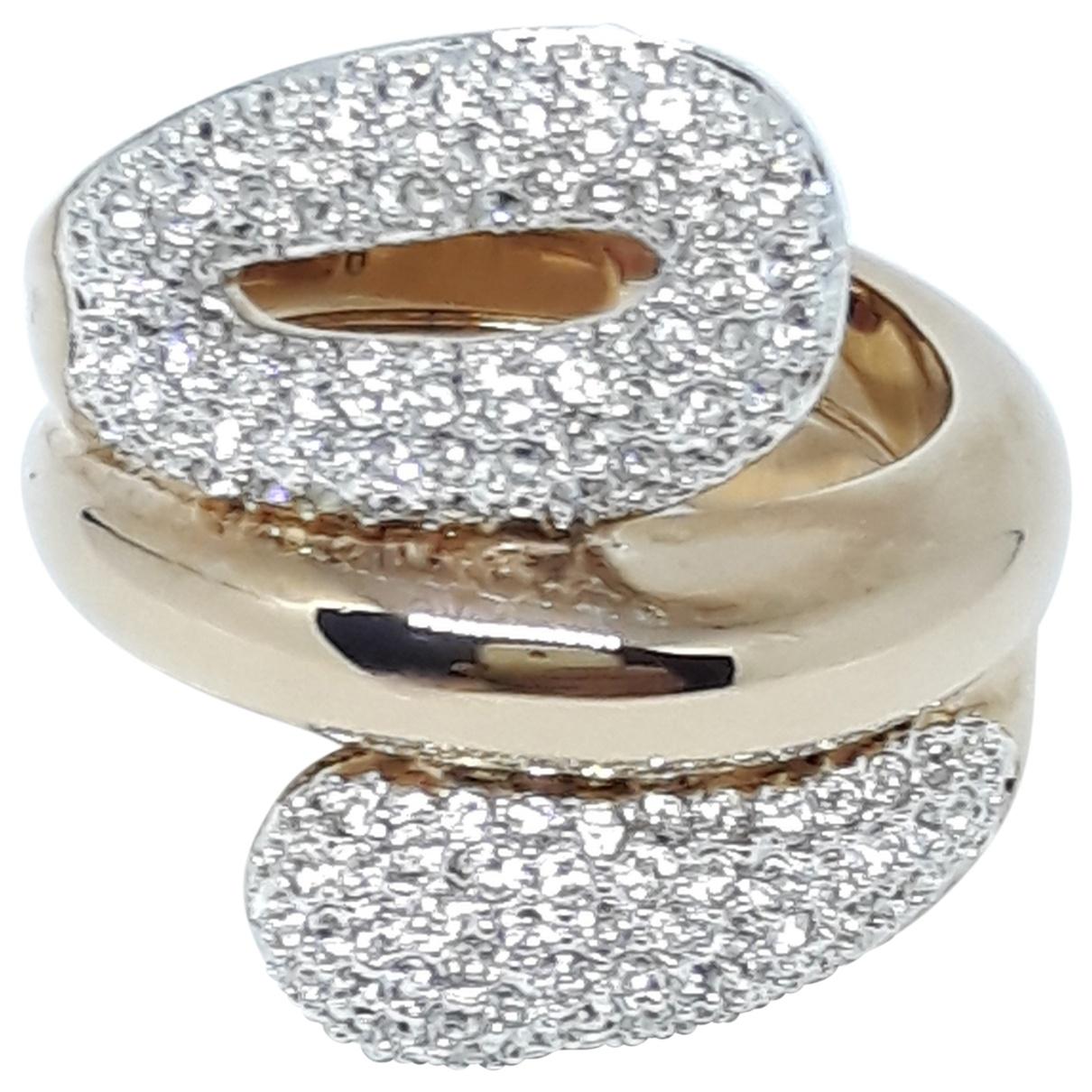 Swarovski \N Ring in  Rosa Metall