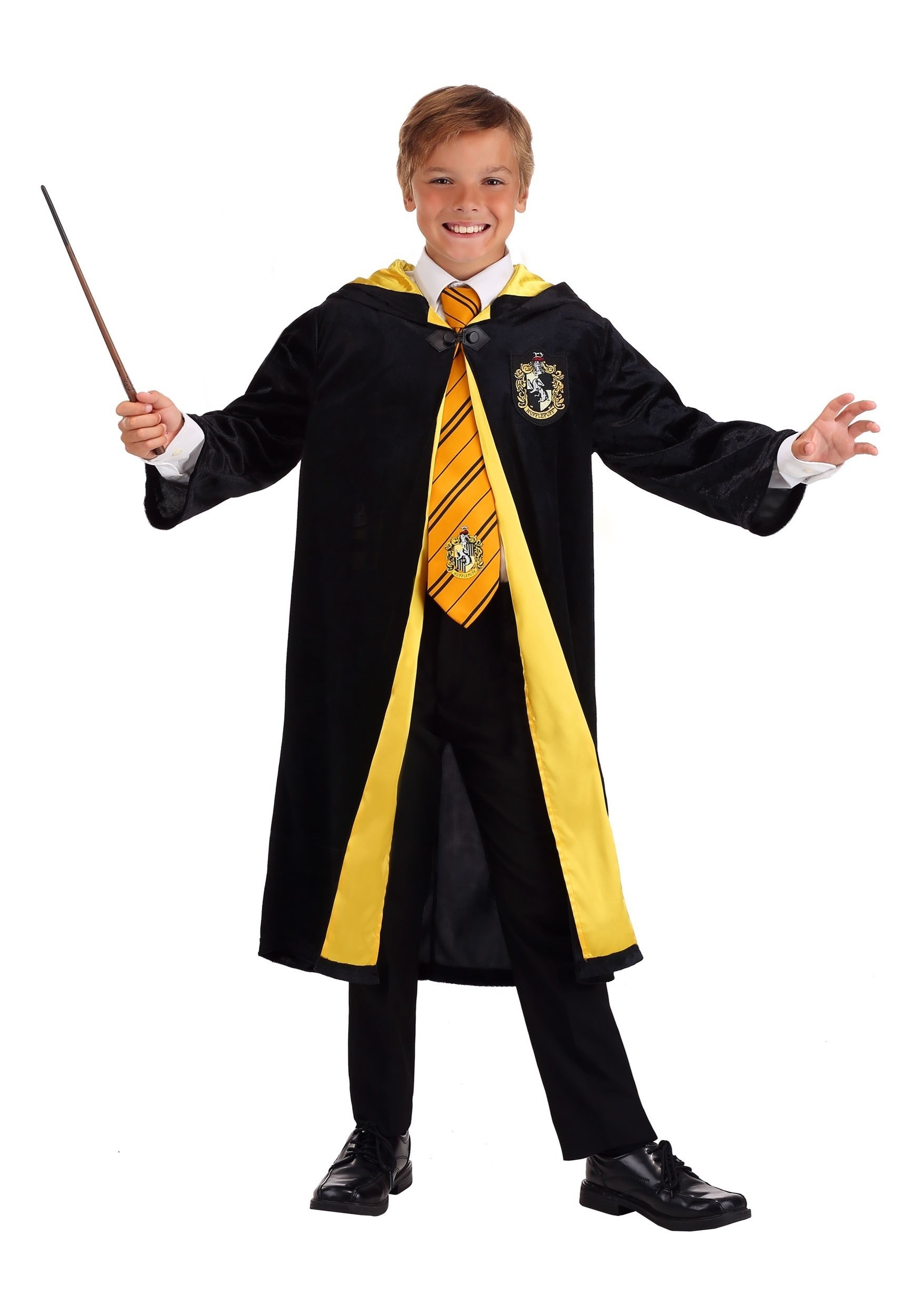 Kids Harry Potter Deluxe Hufflepuff Robe Costume