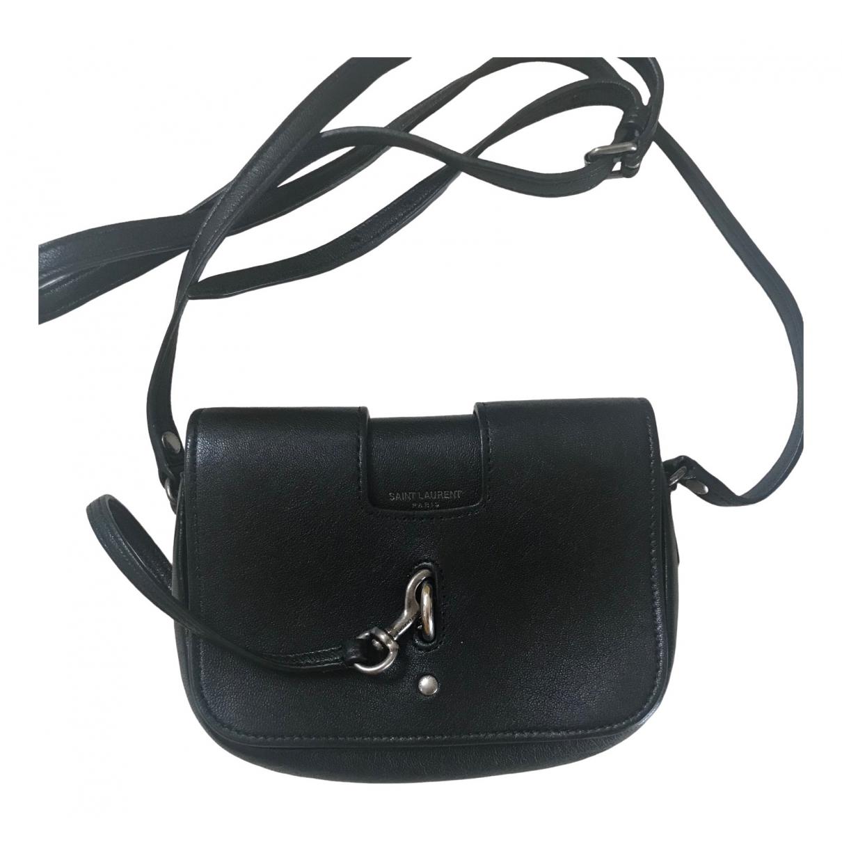 Saint Laurent Charlotte Messenger Black Leather handbag for Women \N