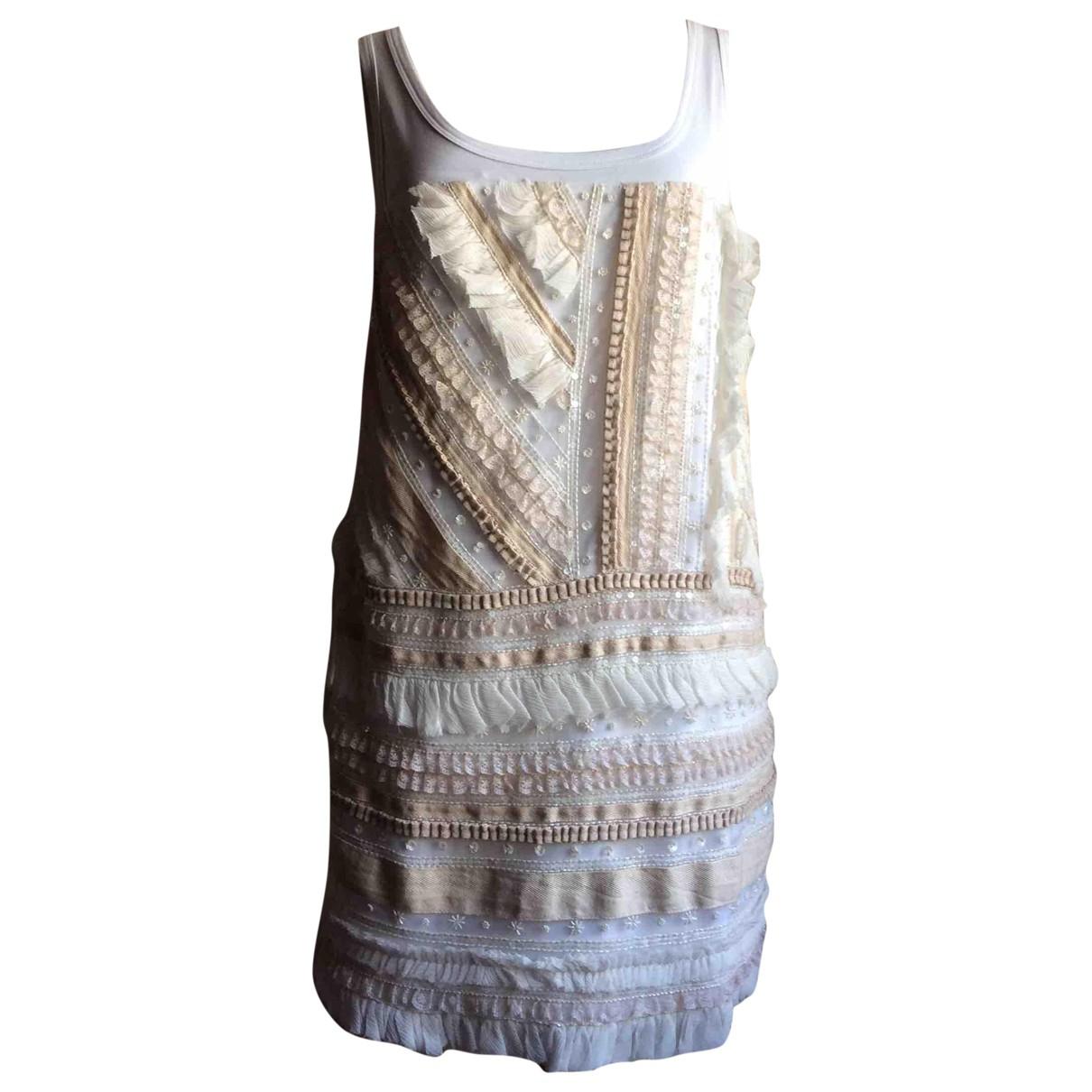 N°21 \N Kleid in  Weiss Baumwolle