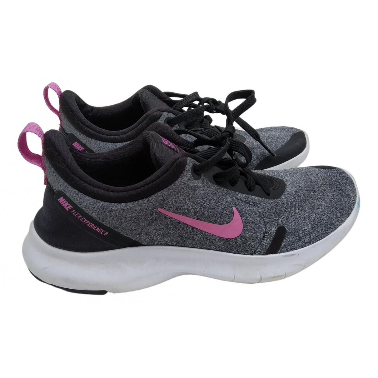 Nike \N Sneakers in  Grau Polyester