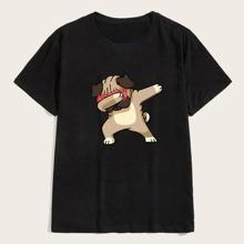 Camiseta de hombres con estampado de perro