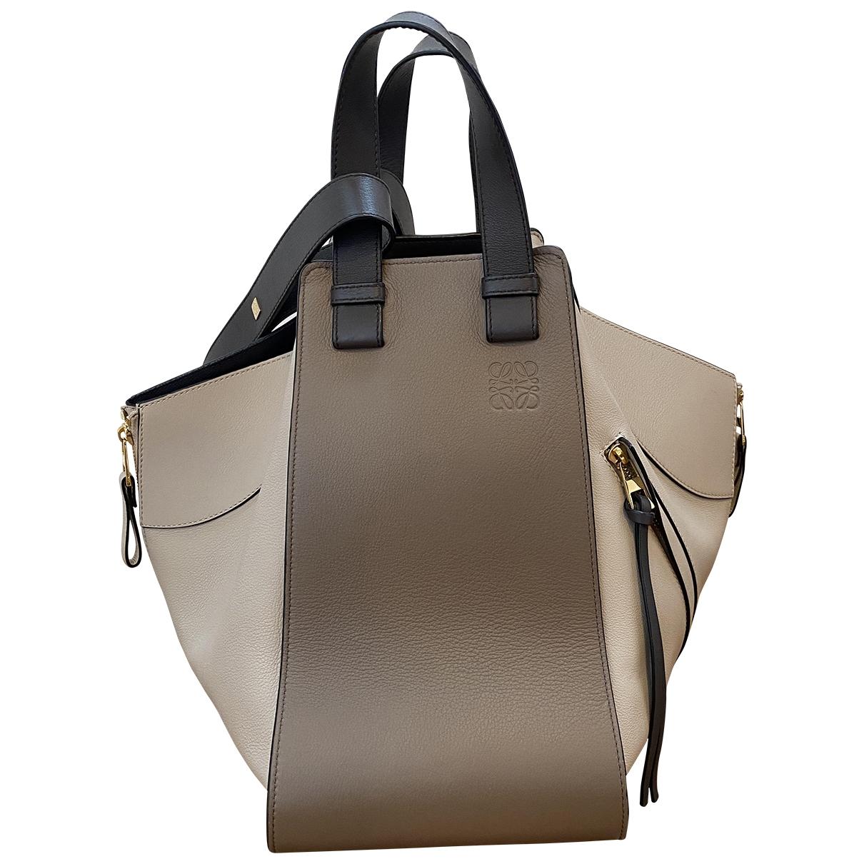 Loewe Hammock Beige Leather handbag for Women \N