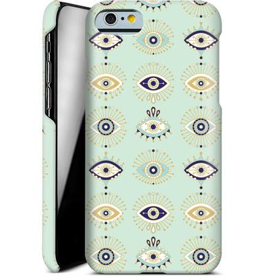 Apple iPhone 6 Smartphone Huelle - Evil Eyes Mint von Cat Coquillette