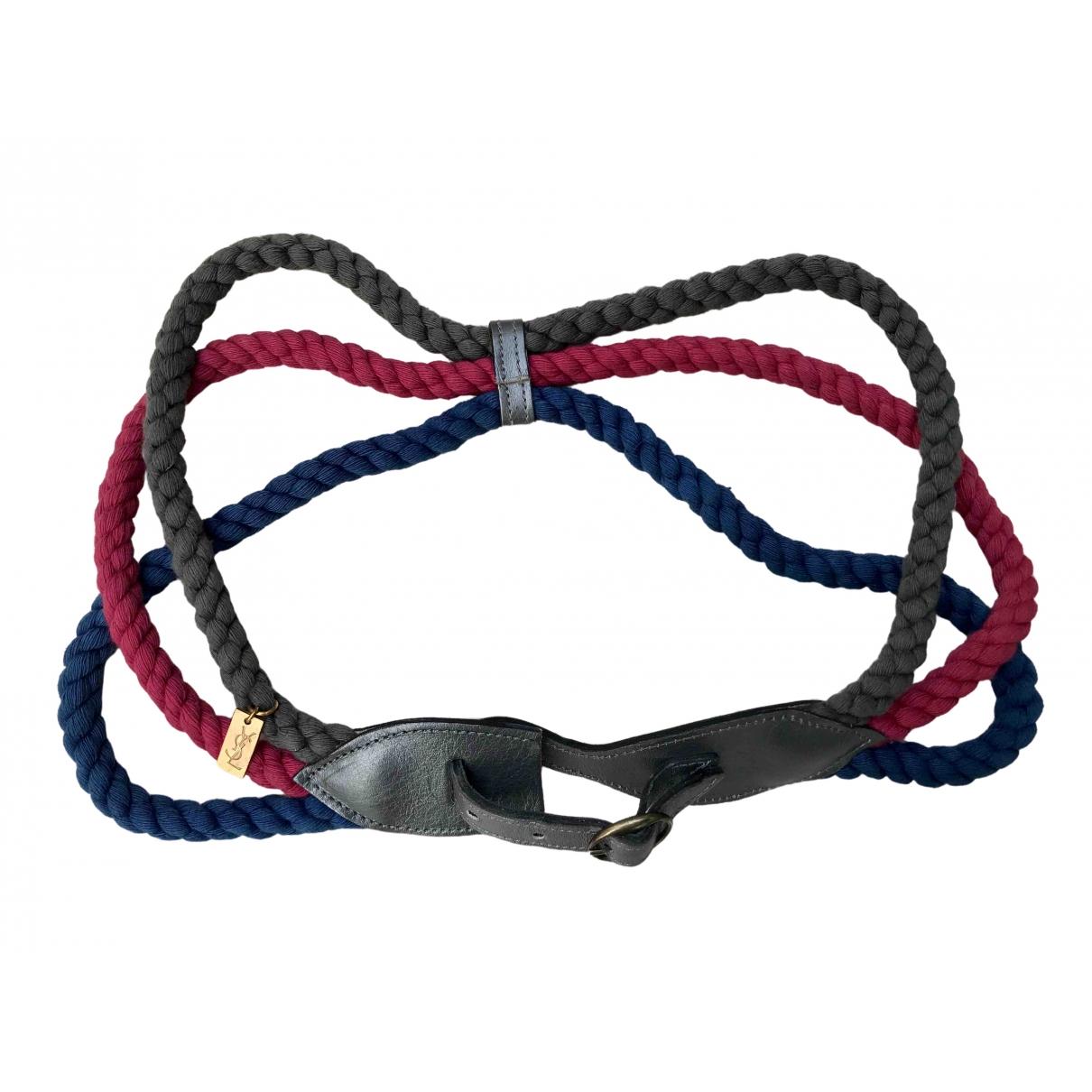 Yves Saint Laurent \N Multicolour Cotton belt for Women M International