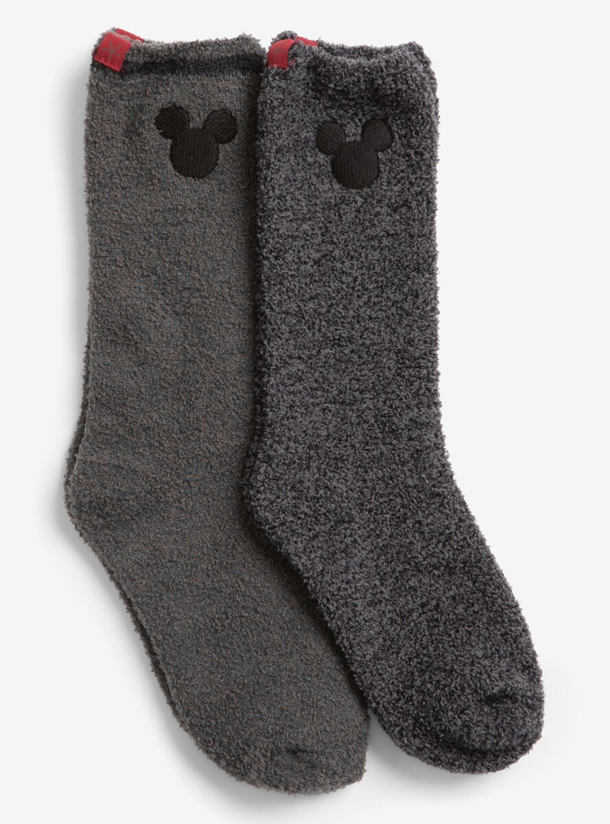 CozyChic Classic Disney Youth Mickey Mouse 2 Pack Sock Carbon Multi