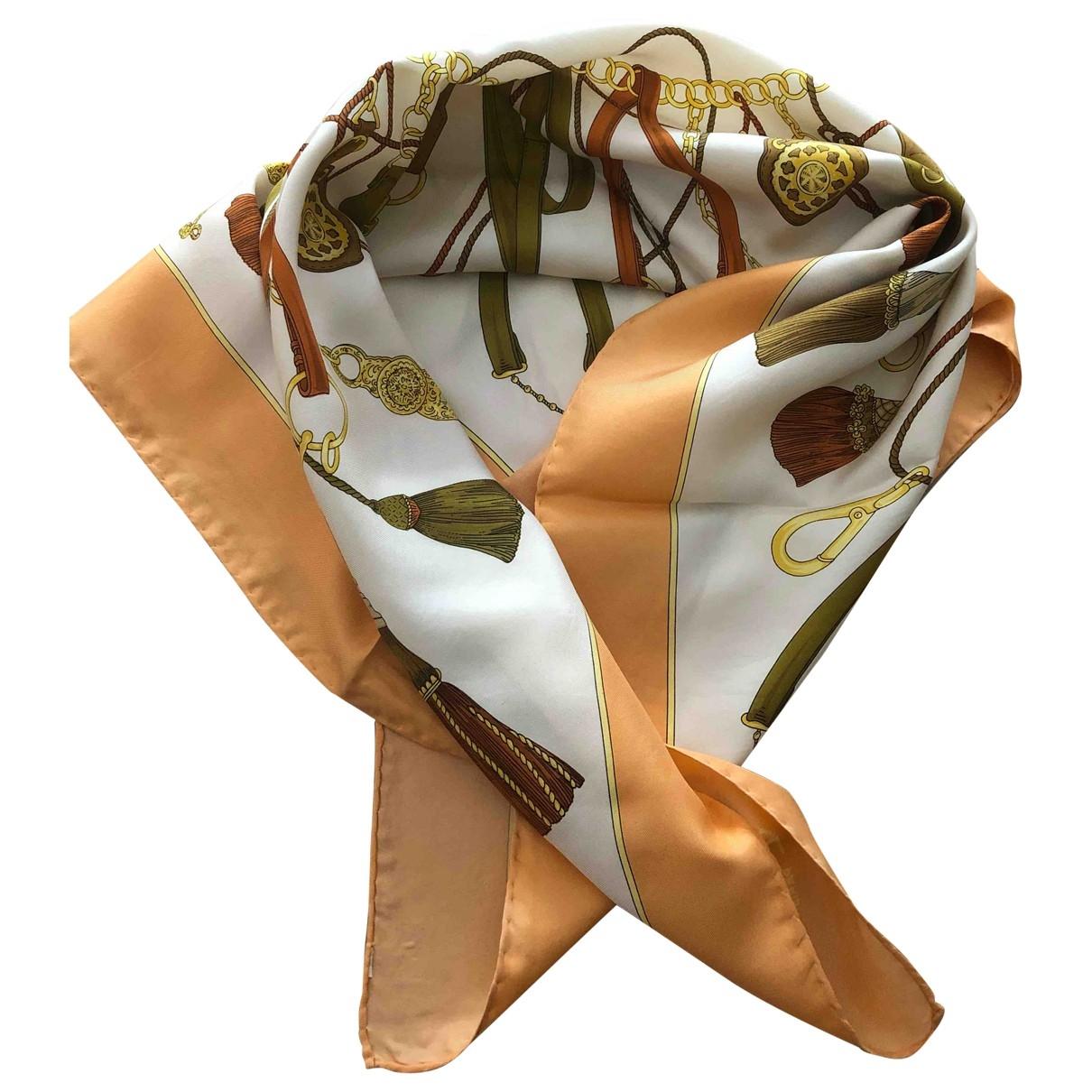 Celine \N Orange Silk scarf for Women \N