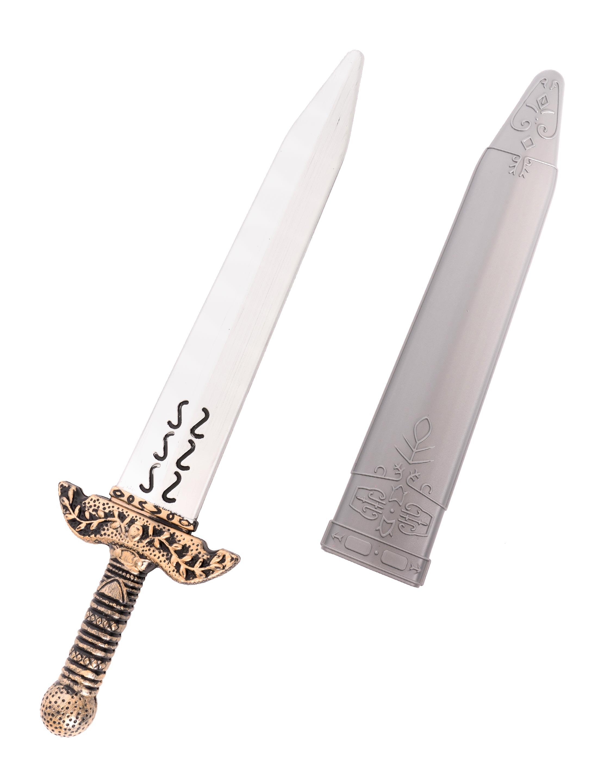 Kostuemzubehor Schwert mit Scheide grau 50cm