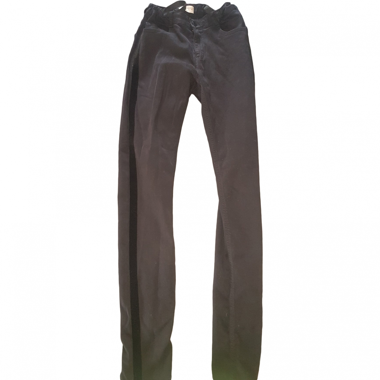 Zara \N Black Cotton Trousers for Kids 14 years - S FR